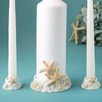 Sea/Beach Themed Unity Candle Holder Set
